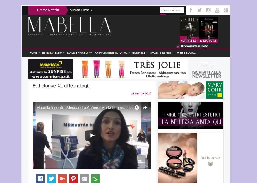 Mabella intervista Alessandra Cafiero al Cosmoprof 2016